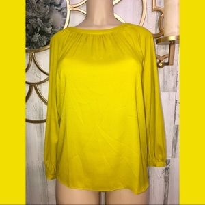 ANN Taylor Yellow Small women long sleeve blouse